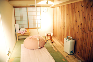 The labour and birthing room